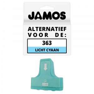 JAMOS Inktcartridge Alternatief voor de HP 363 Licht Cyaan