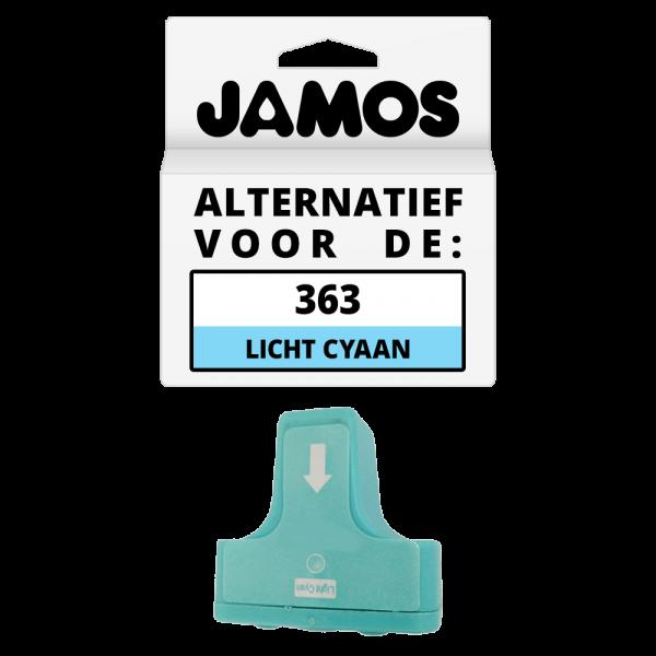 JAMOS Inktcartridge Alternatief voor de HP 363 Licht Cyaan