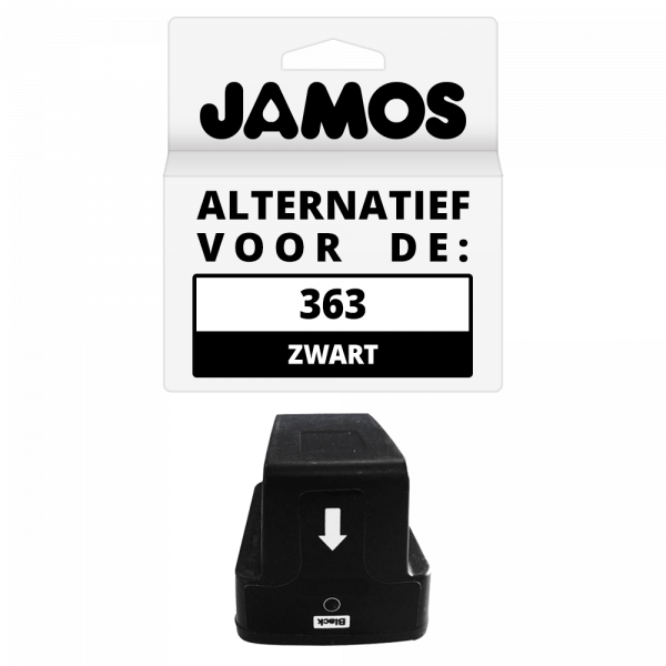 JAMOS Inktcartridge Alternatief voor de HP 363 Zwart