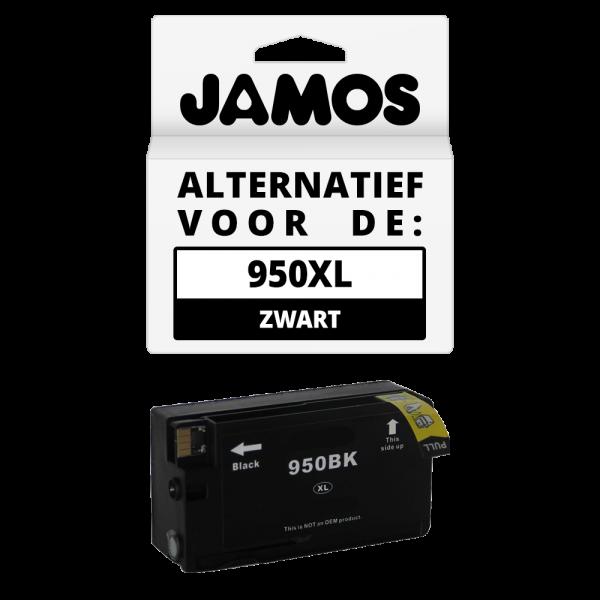JAMOS Inktcartridge Alternatief voor de HP 950XL Zwart