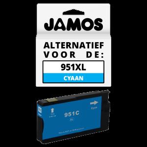 JAMOS Inktcartridge Alternatief voor de HP 951XL Cyaan