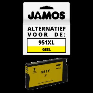 JAMOS Inktcartridge Alternatief voor de HP 951XL Geel