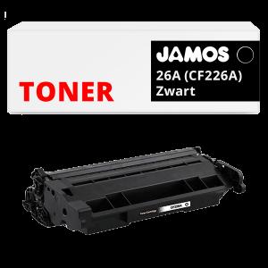 JAMOS Tonercartridge Alternatief voor de HP 26A Zwart CF226A