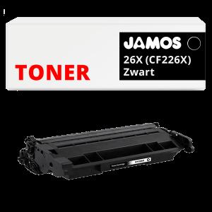 JAMOS Tonercartridge Alternatief voor de HP 26X Zwart CF226X