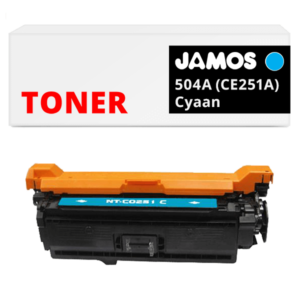 JAMOS Tonercartridge Alternatief voor de HP 504A Cyaan CE251A