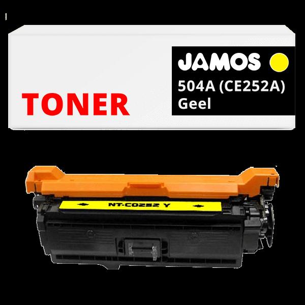 JAMOS Tonercartridge Alternatief voor de HP 504A Geel CE252A