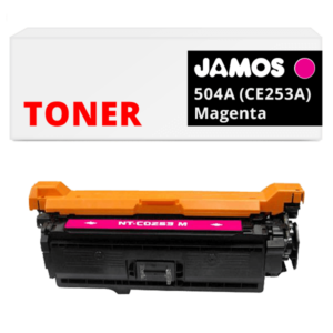JAMOS Tonercartridge Alternatief voor de HP 504A Magenta CE253A