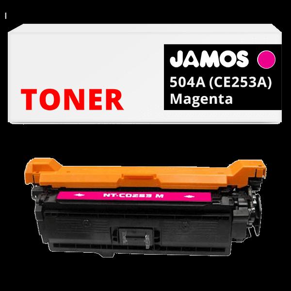 JAMOS Tonercartridge Alternatief voor de HP 504A Magenta CE253A
