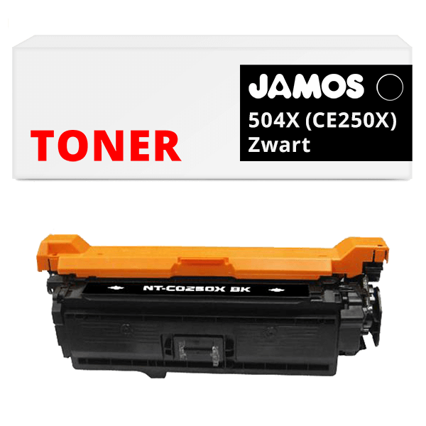 JAMOS Tonercartridge Alternatief voor de HP 504X Zwart CE250X