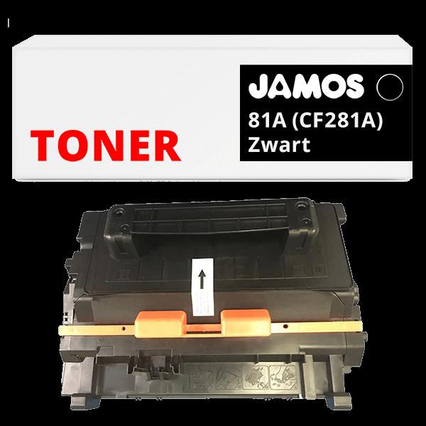 JAMOS Tonercartridge Alternatief voor de HP 81A Zwart CF281A