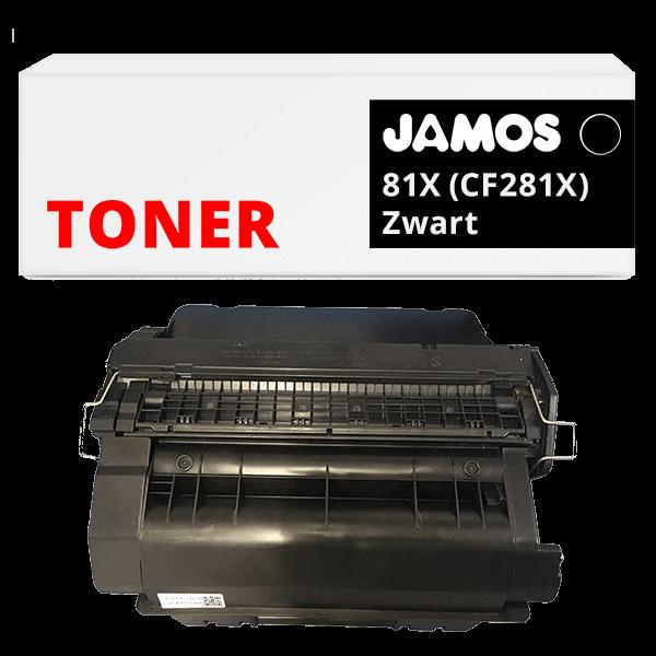 JAMOS Tonercartridge Alternatief voor de HP 81X Zwart CF281X