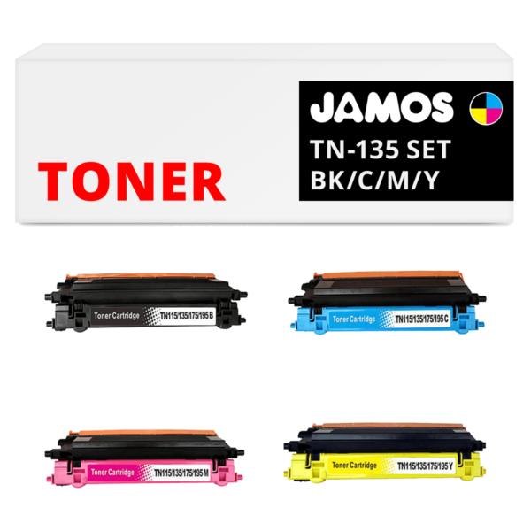 JAMOS Tonercartridge Alternatief voor de Brother TN-135 Voordeelset