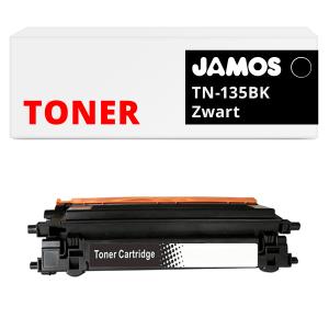 JAMOS Tonercartridge Alternatief voor de Brother TN-135BK Zwart