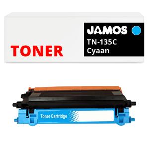 JAMOS Tonercartridge Alternatief voor de Brother TN-135C Cyaan