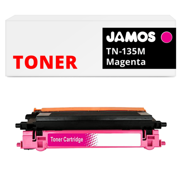 JAMOS Tonercartridge Alternatief voor de Brother TN-135M Magenta