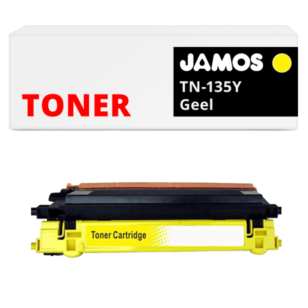 JAMOS Tonercartridge Alternatief voor de Brother TN-135Y Geel