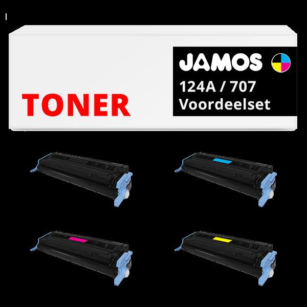 JAMOS Tonercartridge Alternatief voor de HP 124A & Canon 707 Voordeelset