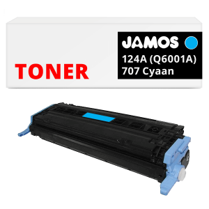 JAMOS Tonercartridge Alternatief voor de HP 124A Q6001A Canon 707 Cyaan