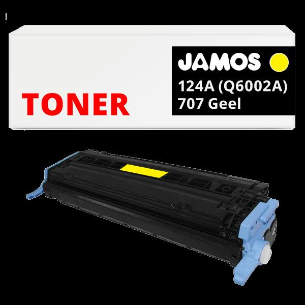 JAMOS Tonercartridge Alternatief voor de HP 124A Q6002A Canon 707 Geel