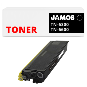 JAMOS Tonercartridge Alternatief voor de Brother TN-6300 TN-6600 Zwart