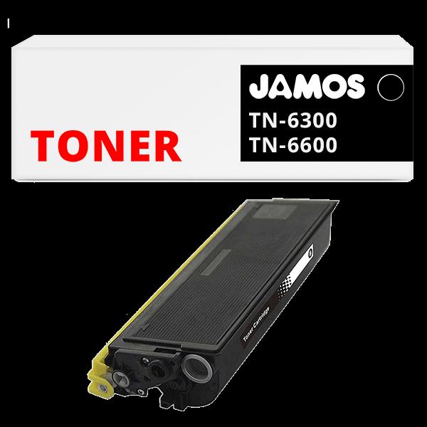 JAMOS Tonercartridge Alternatief voor de Brother TN-6300 TN-6600 Zwart