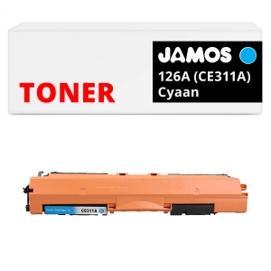 JAMOS Tonercartridge Alternatief voor de HP 126A Cyaan CE311A