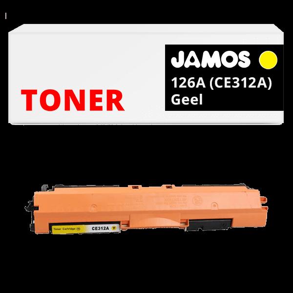 JAMOS Tonercartridge Alternatief voor de HP 126A Geel CE312A