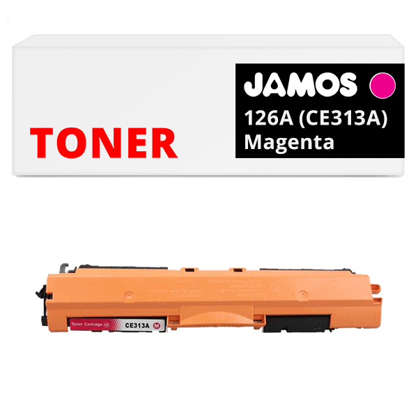 JAMOS Tonercartridge Alternatief voor de HP 126A Magenta CE313A