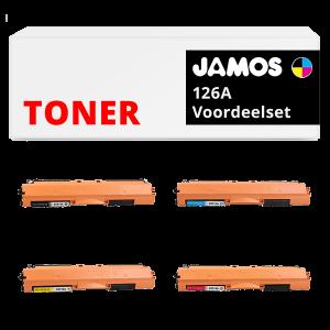JAMOS Tonercartridge Alternatief voor de HP 126A Voordeelset