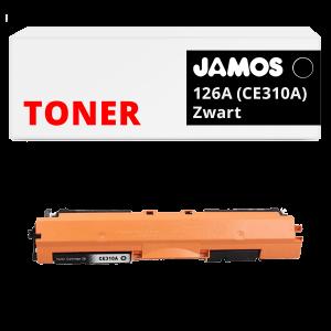 JAMOS Tonercartridge Alternatief voor de HP 126A Zwart CE310A
