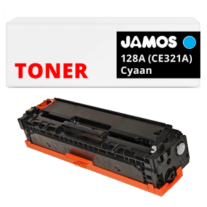 JAMOS Tonercartridge Alternatief voor de HP 128A Cyaan CE321A