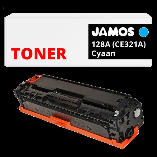 JAMOS Tonercartridge Alternatief voor de HP 128A Cyaan CE321A