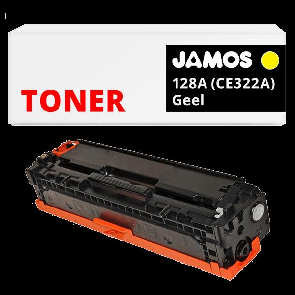 JAMOS Tonercartridge Alternatief voor de HP 128A Geel CE322A