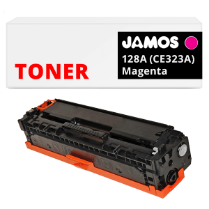 JAMOS Tonercartridge Alternatief voor de HP 128A Magenta CE323A