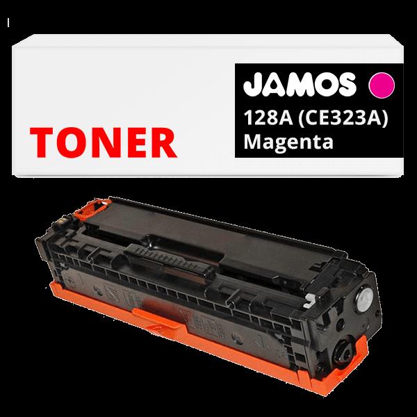 JAMOS Tonercartridge Alternatief voor de HP 128A Magenta CE323A