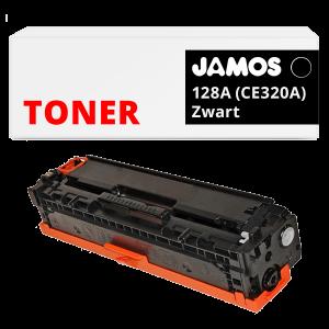 JAMOS Tonercartridge Alternatief voor de HP 128A Zwart CE320A
