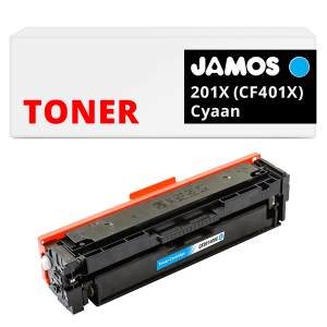 JAMOS Tonercartridge Alternatief voor de HP 201X Cyaan CF401X