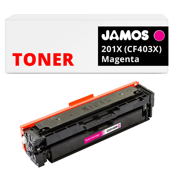 JAMOS Tonercartridge Alternatief voor de HP 201X Magenta CF403X
