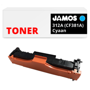 JAMOS Tonercartridge Alternatief voor de HP 312A Cyaan CF381A