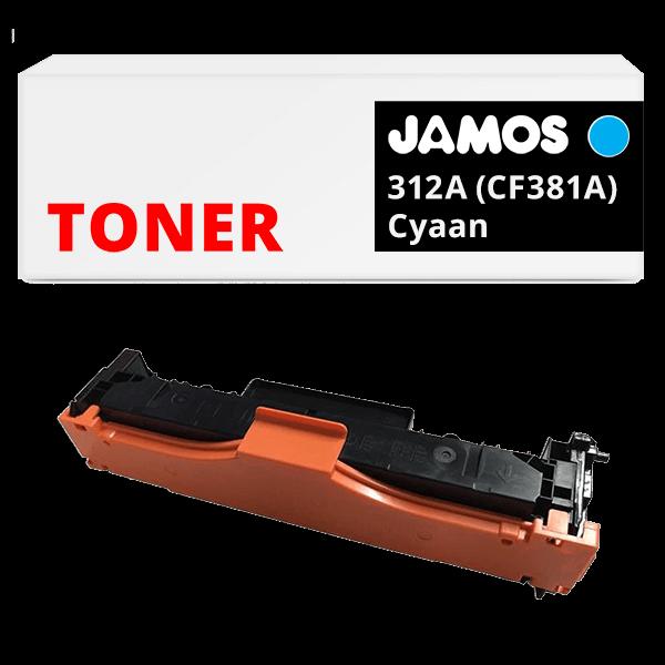 JAMOS Tonercartridge Alternatief voor de HP 312A Cyaan CF381A