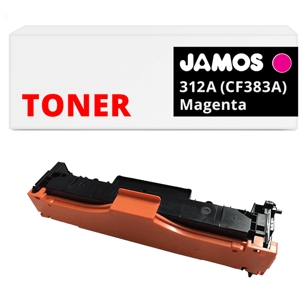 JAMOS Tonercartridge Alternatief voor de HP 312A Magenta CF383A