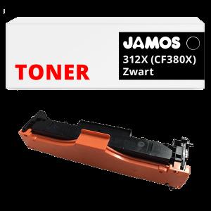 JAMOS Tonercartridge Alternatief voor de HP 312X Zwart CF380X