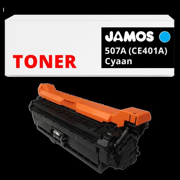 JAMOS Tonercartridge Alternatief voor de HP 507A Cyaan CE401A