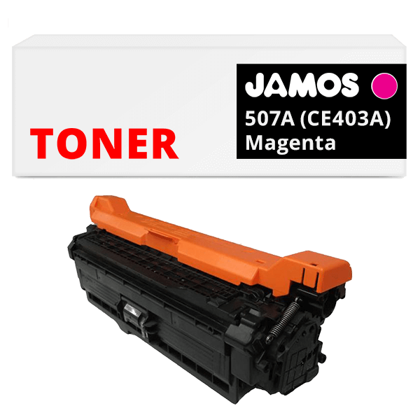 JAMOS Tonercartridge Alternatief voor de HP 507A Magenta CE403A