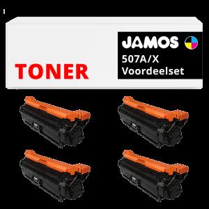 JAMOS Tonercartridges Alternatief voor de HP 507A X Voordeelset