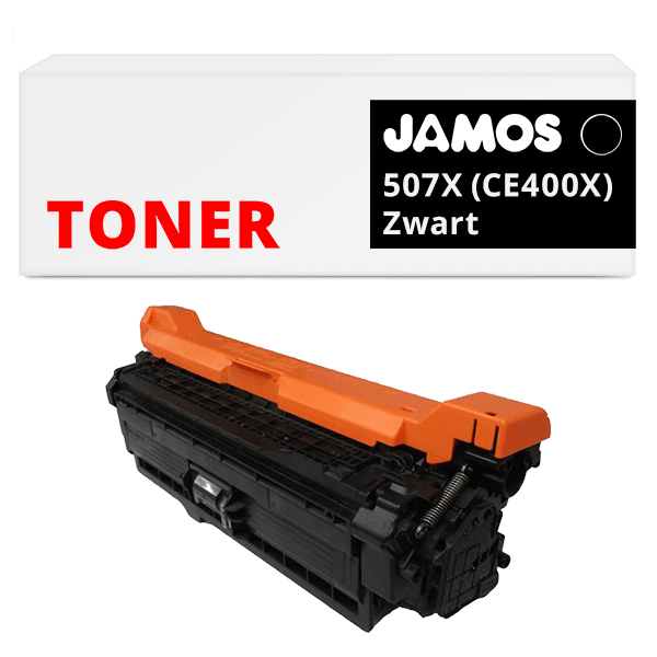 JAMOS Tonercartridge Alternatief voor de HP 507X Zwart CE400X