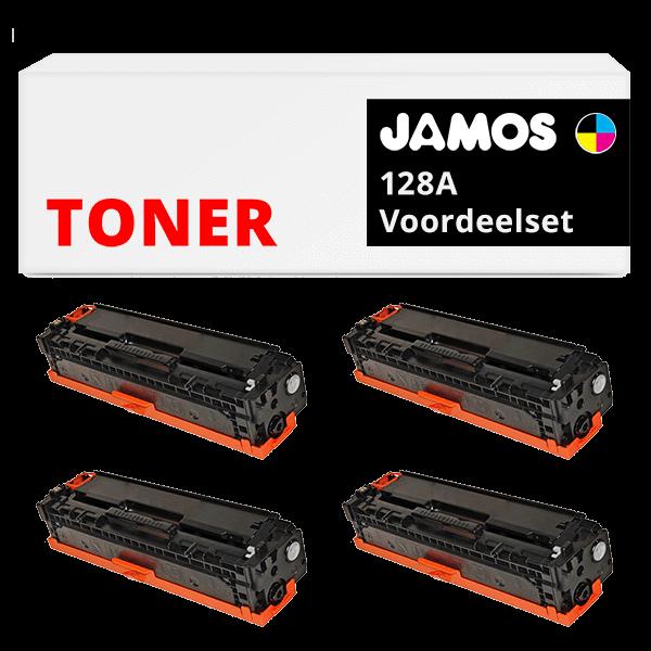 JAMOS Tonercartridges Alternatief voor de HP 128A Voordeelset