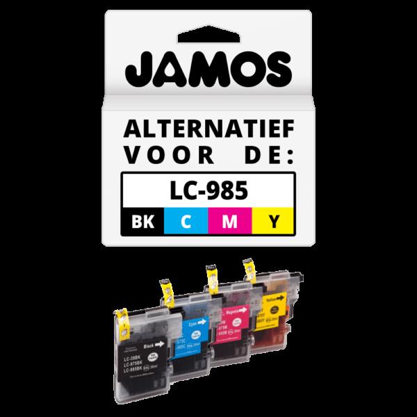JAMOS Inktcartridge Alternatief voor de Brother LC-985 Voordeelset