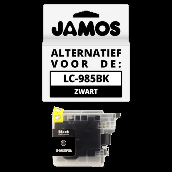 JAMOS Inktcartridge Alternatief voor de Brother LC-985BK Zwart