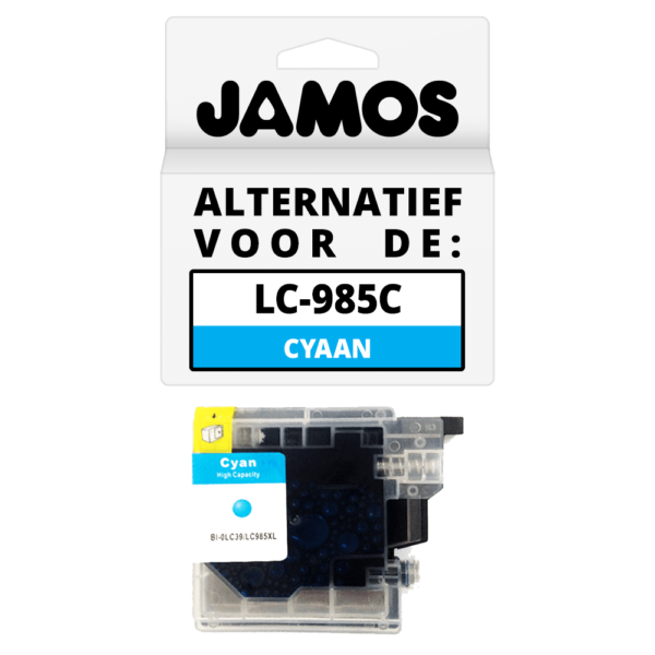 JAMOS Inktcartridge Alternatief voor de Brother LC-985C Cyaan